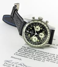 BREITLING | A STAINLESS STEEL CHRONOGRAPH WRISTWATCH WITH 24-HOUR DIAL AND REGISTERS<br /> REF 806E-809 COSMONAUTE CIRCA 1965