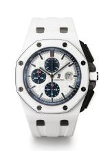 AUDEMARS PIGUET | A CERAMIC AUTOMATIC CHRONOGRAPH WRISTWATCH WITH REGISTERS AND DATE<br />NO 054 ROYAL OAK OFFSHORE CIRCA 2012