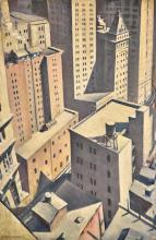 CHRISTOPHER RICHARD WYNNE NEVINSON, A.R.A. | Looking Down on Downtown