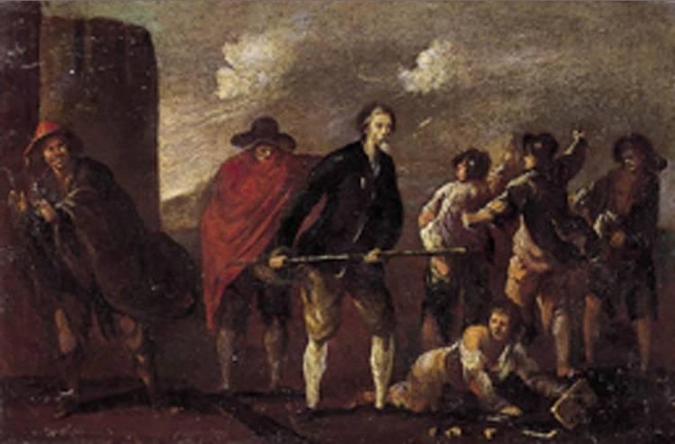 CERCHIA DI MATTEO GHIDONI, DETTO MATTEO DEI PITOCCHI PADOVA 1626 C.-1689