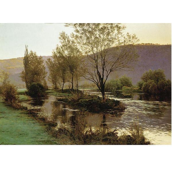 Albert-Gabriel Rigolot French, 1862-1932 , dusk oil on canvas