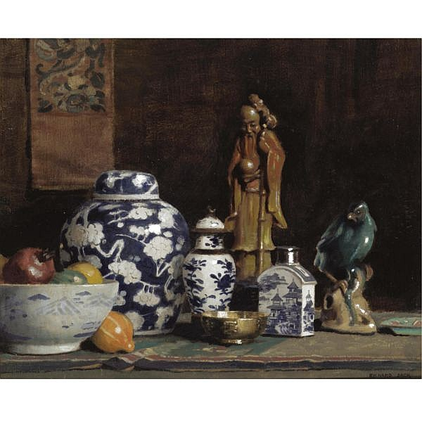Richard Jack R.A., 1866-1959 , Still Life oil on board