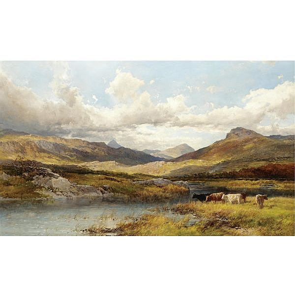 John Syer and James Doubting 1815-1885 , Moel Siabod oil on canvas