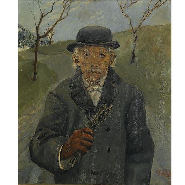 Christian Krohg Norwegian 1852-1925 , Onkel Joachim (Uncle Joachim) oil on canvas