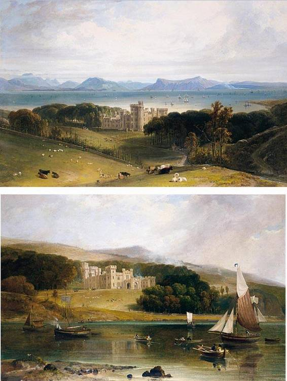 WILLIAM DANIELL, R.A.  1769-1837 VIEWS OF ARMADALE CASTLE, THE SEAT OF LORD MACDONALD, FROM THE