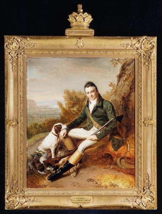 f - RAMSAY RICHARD REINAGLE R.A.  1775-1862 PORTRAIT OF GEORGE, 5TH DUKE OF GORDON (1770-1836)