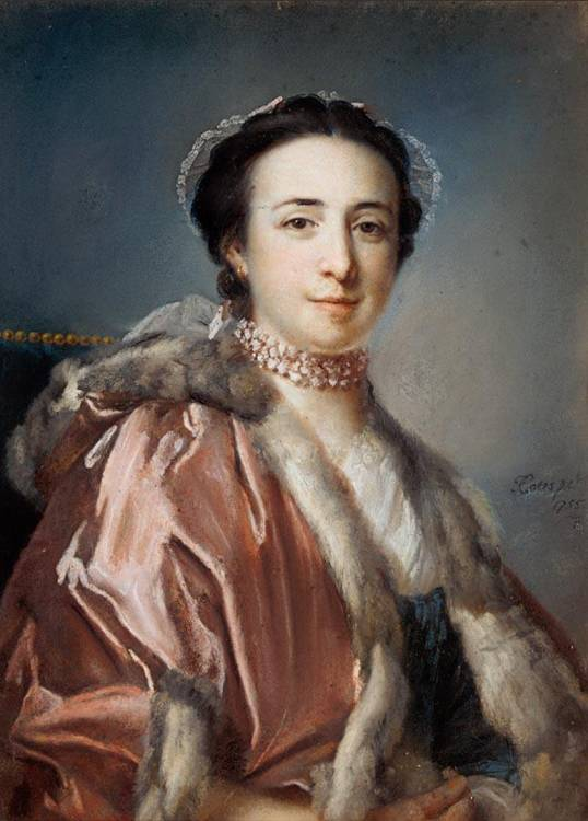 FRANCIS COTES R.A. 1726-1770 PORTRAIT OF MERICAS DA SILVER, MRS JOSEPH GULSTON