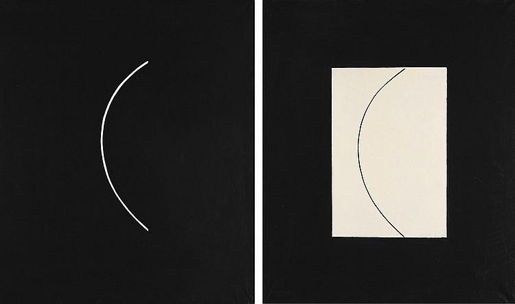 VALERY YURLOV   White and Black (Diptych)