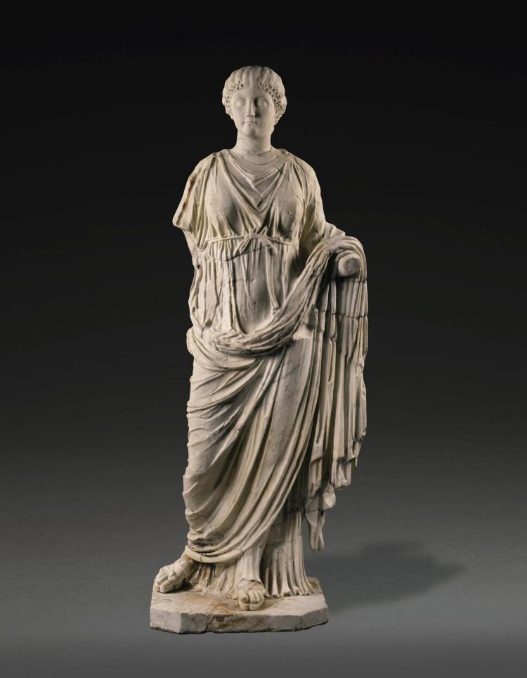 A Roman Marble Portrait Statue Of A Woman Circa 2nd Century