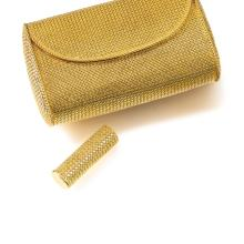 LADY'S EVENING BAG, POWDER COMPACT AND LIPSTICK HOLDER, JEAN ETÉ, 1960S