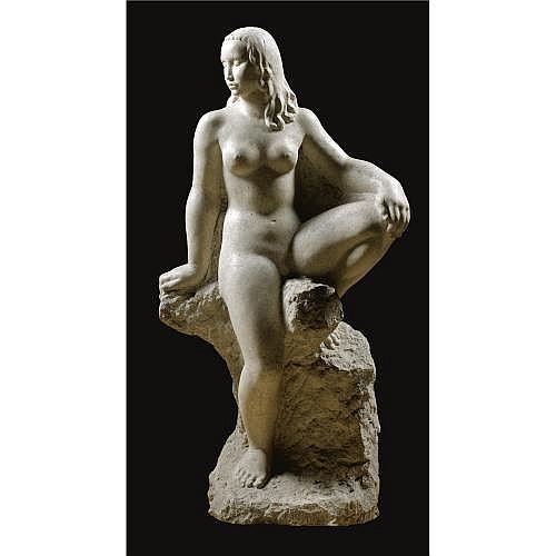 f - Petar Pallavicini Croatian, 1888-1958 , a seated female nude