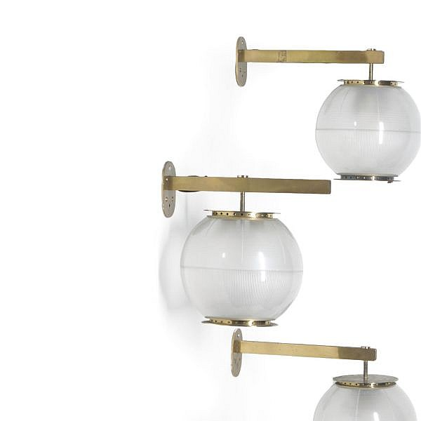Ignazio Gardella (1905 - 1999) for Azucena , A set of four ' Lp7 ' wall lights