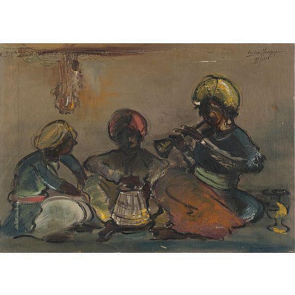 Sailoz Mookherjea 1907 - 1960 , Untitled Oil on canvas