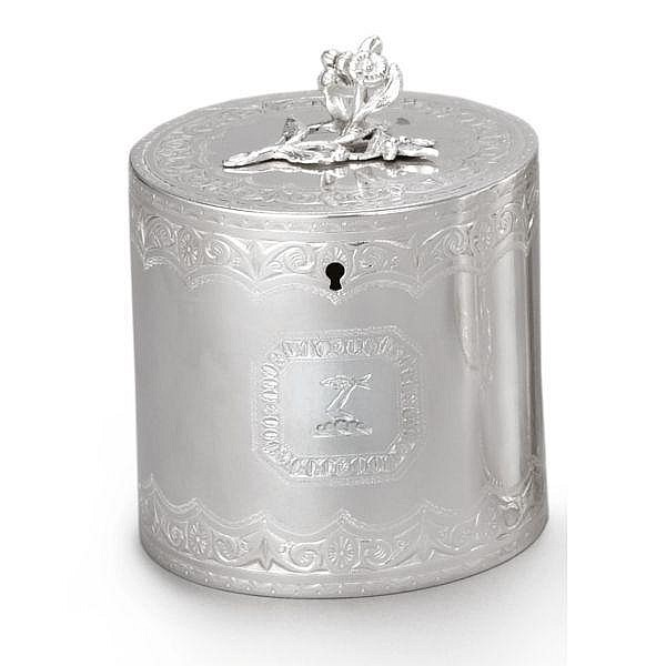 A George III Silver Drum-shape Tea Caddy, Charles Wright, London, 1772