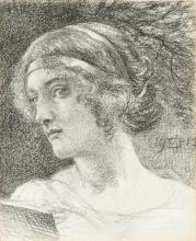 SIR EDWARD JOHN POYNTER, BT., P.R.A., R.W.S.   Study of a Woman's Head