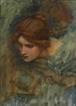 JOHN WILLIAM WATERHOUSE, R.A., R.I. | Study for the head of Venus in <em>The Awakening of Adonis</em>