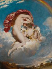WILLIAM ETTY, R.A.   Venus and Cupid Descending
