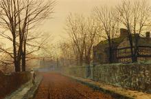 JOHN ATKINSON GRIMSHAW   A November Morning