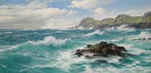 DAVID JAMES   Waves off the Cornish Coast