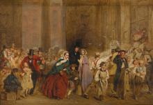 GEORGE ELGAR HICKS, R.B.A.   Sketch for <em>The General Post Office, One Minute to Six</em>