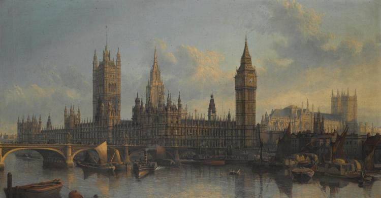 JOHN MACVICAR ANDERSON | The Palace of Westminster from the Thames