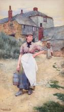 WALTER LANGLEY, R.I. | A Cornish Village Maiden