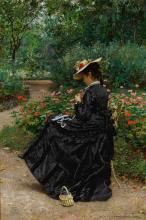 MARIE-FRANÇOIS FIRMIN-GIRARD | Woman Sewing in a Garden