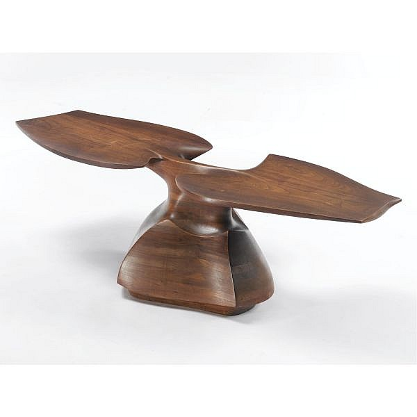 Wendell Castle , Unique Coffee Table   walnut