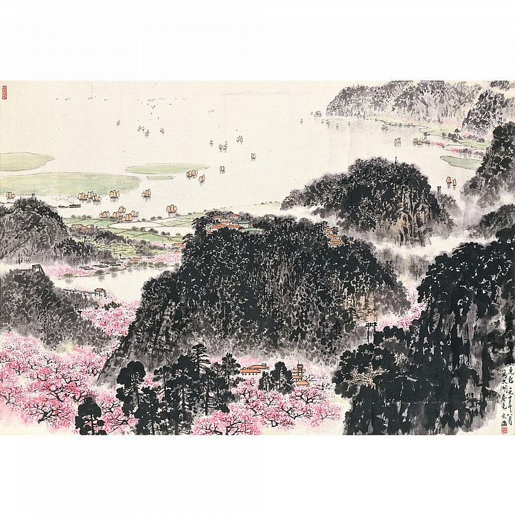 SONG WENZHI 1918-1999 SPRING AT LAKE TAIHU