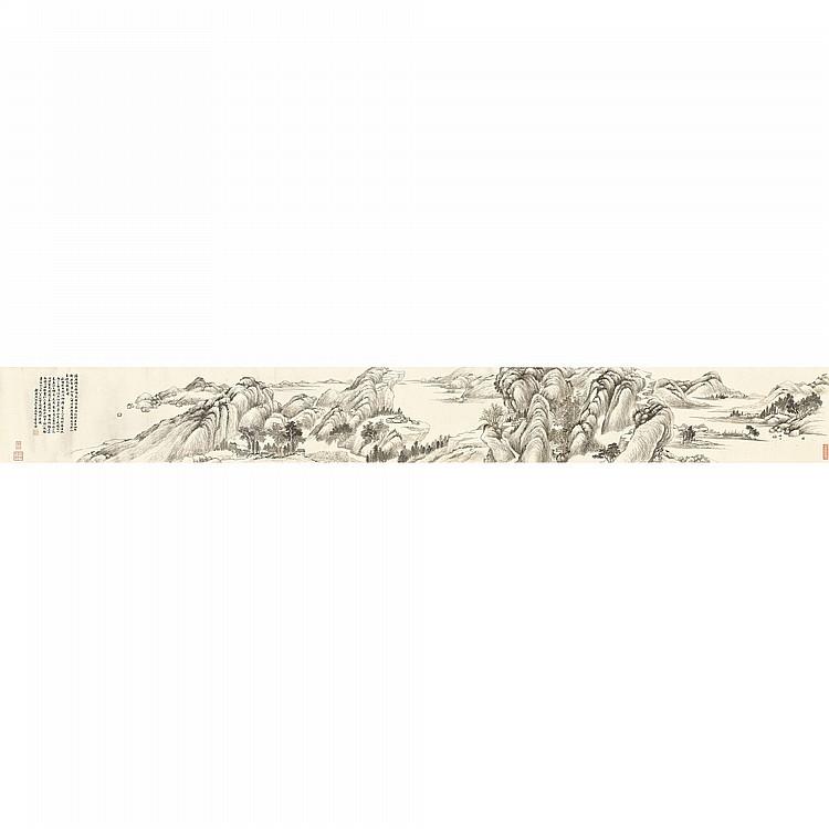 WU DACHENG 1835-1902 LANDSCAPE IMITATING DAI XI (1801-1860)