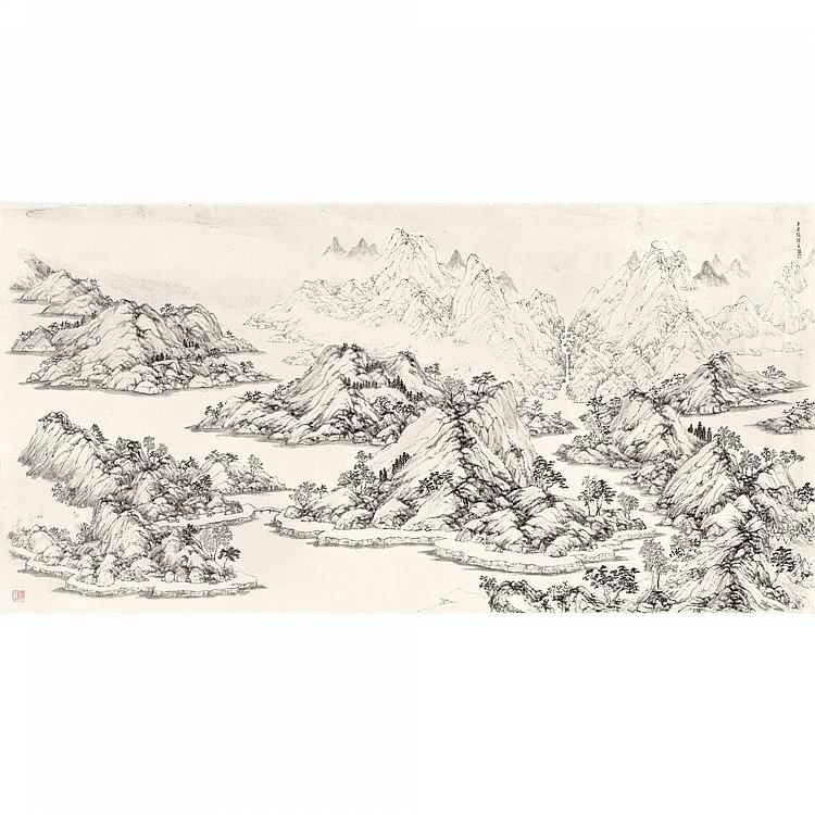 ZHANG HONG (ARNOLD CHANG) B. 1954 LANDSCAPE