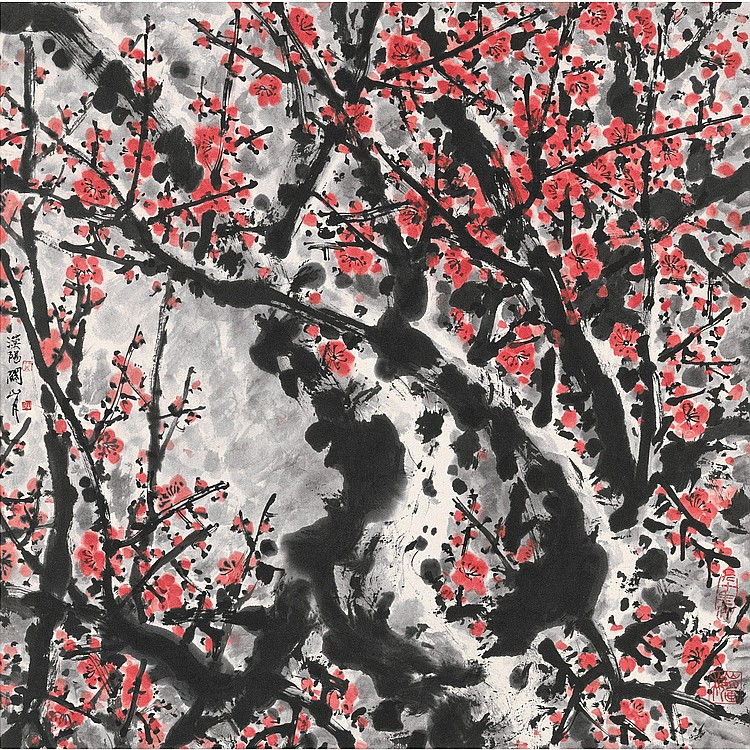 GUAN SHANYUE 1912-2000 PLUM BLOSSOMS
