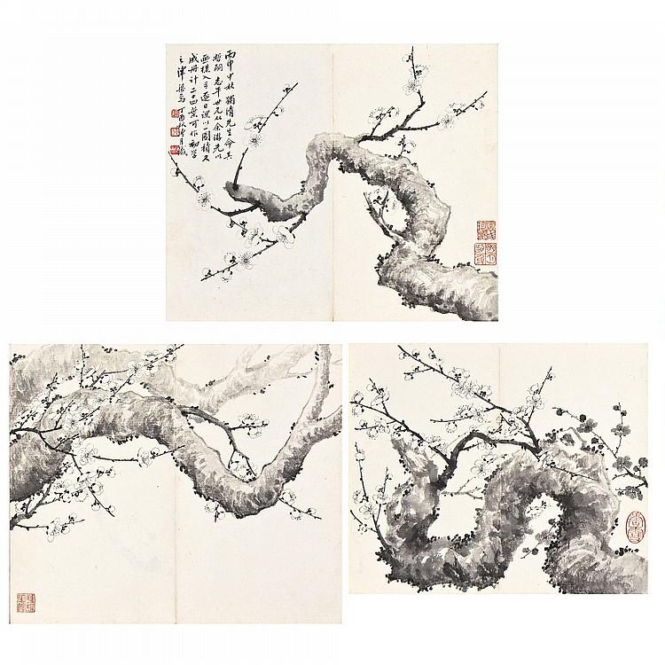 TAO LENGYUE 1895-1985 PLUM BLOSSOMS