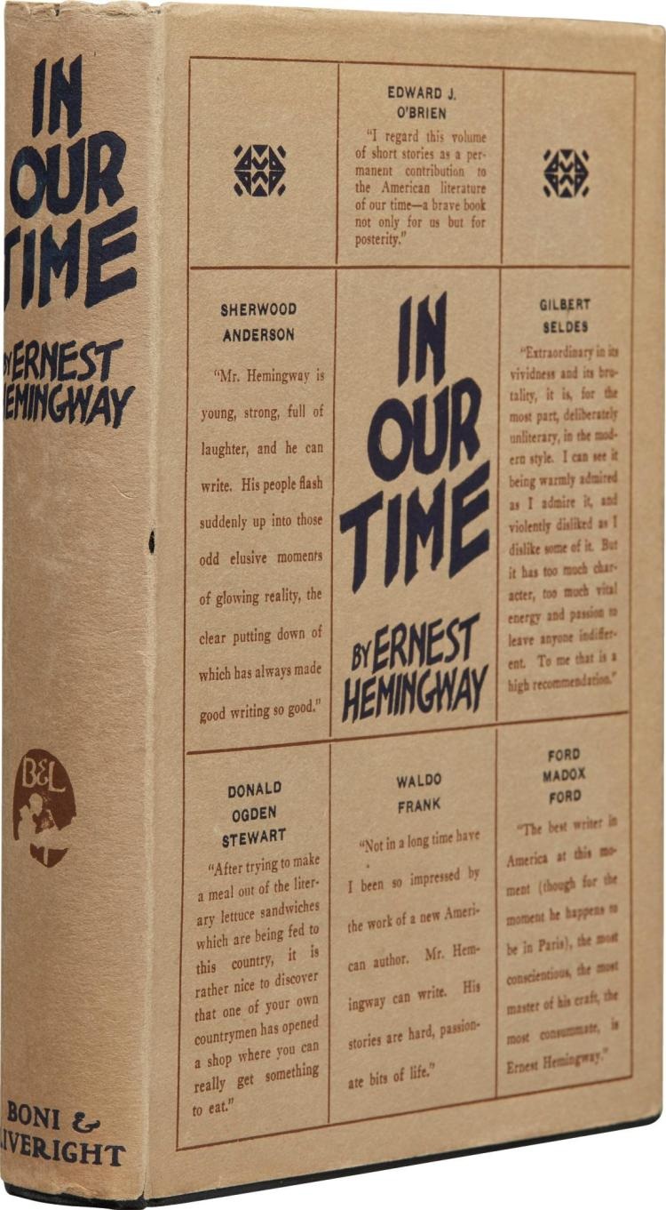 "a literary analysis of in our time by ernest hemingway Addiction / america / identity / literature / psychology short story wednesdays: ""big two-hearted river"" by hemingway  ernest hemingway, in our time, ."