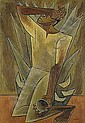 Oswaldo Guayasamin (1919-1999) sed (serie huacaynan) signed oil on canvas 41 by 27 1/2 in. (104 by 6..., Oswaldo Guayasamin, Click for value