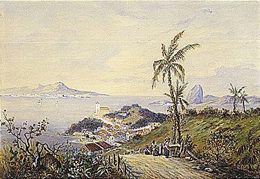 Eduard Hildebrandt (1817-1869) untitled signed, inscribed a Gloria, and dated Rio de Janeiro 1845 wa...