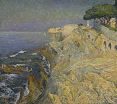 Emilio Boggio (1857-1920) la mer a nervi signed and dated -7-bre-1909; also signed, numbered N°56 an...