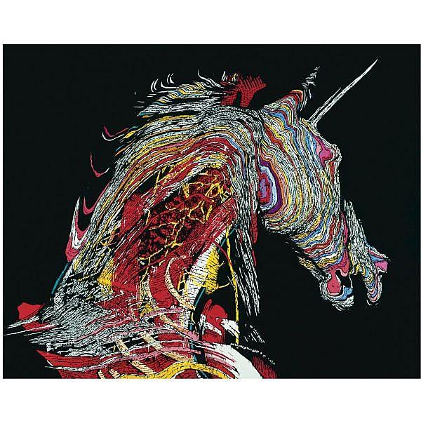 m - Paul Insect , b. 1971 Unicorn acrylic on canvas