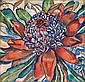 GRACE COSSINGTON SMITH , Australian 1892-1984 WARATAH Oil on board   , Grace Cossington Smith, Click for value