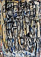 IAN FAIRWEATHER , Australian 1891-1974 STANDING FIGURES Oil on cardboard on composition board   , Ian Fairweather, Click for value