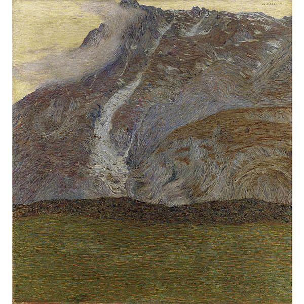 - Cesare Maggi , (Roma 1881 - Torino 1961) Alta montagna olio su tela