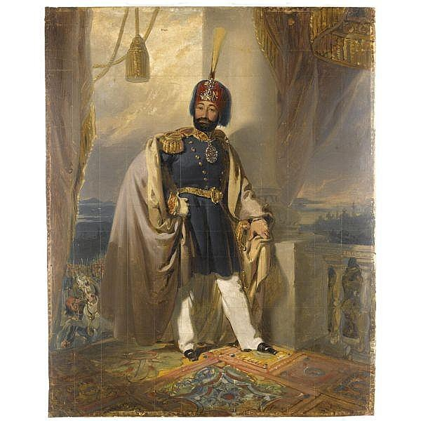 A Portrait of the Ottoman Sultan Mahmud II (R. 1808-1839), signed by Henri Guillaume Schlesinger (1814-1893), Turkey, dated 20th September 1836