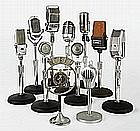 COLLECTION OF ELEVEN TABLE MICROPHONES | Collection of Eleven Table Microphones