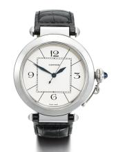 CARTIER | A STAINLESS STEEL AUTOMATIC CENTRE SECONDS WRISTWATCH <br />REF 2730 CASE 900764UF PASHA CIRCA 2005
