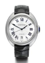 CARTIER | A LIMITED EDITION STAINLESS STEEL AUTOMATIC TONNEAU-FORM WRISTWATCH WITH DATE<br />REF 3850 CASE 143949UX CLÉ MANAGER EDITION 2015 CIRCA 2015