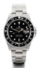 ROLEX | A STAINLESS STEEL AUTOMATIC CENTRE SECONDSDUAL TIME ZONE WRISTWATCH WITH DATE AND BRACELET <br />REF16710 CASEP702856GMT-MASTERIICIRCA2001<br /><br />