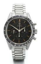 OMEGA | A STAINLESS STEEL CHRONOGRAPH WRISTWATCH WITH REGISTERS <br />REF 2998-4 SPEEDMASTER CIRCA 1961