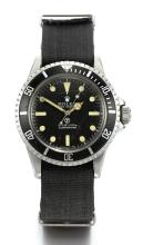 ROLEX | A STAINLESS STEEL AUTOMATIC CENTRE SECONDS MILITARY DIVER'S WRISTWATCH<br />REF 5513 CASE 3927172 SUBMARINER CIRCA 1972