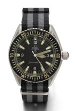 OMEGA | A STAINLESS STEEL CENTRE SECONDS WRISTWATCH FOR THE BRITISH ROYAL NAVY <br />REF 165.024-64SEAMASTER 300 CIRCA 1964