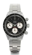 ROLEX | A STAINLESS STEEL CHRONOGRAPH WRISTWATCH WITH REGISTERS AND BRACELET<br />REF 6263 CASE 6056933 DAYTONA CIRCA 1979